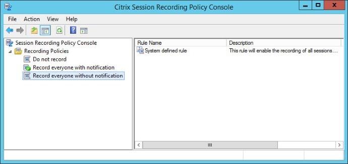 Citrix Session Recording 05