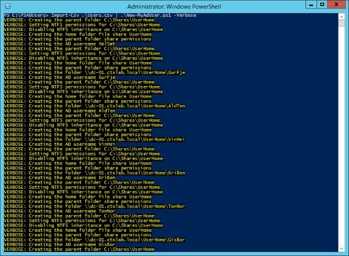 Create Active Directory Users with Powershell 01