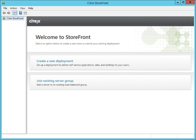 Create New X1 StoreFront Deployment