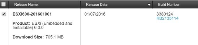 ESXi Update 6.0 U1b