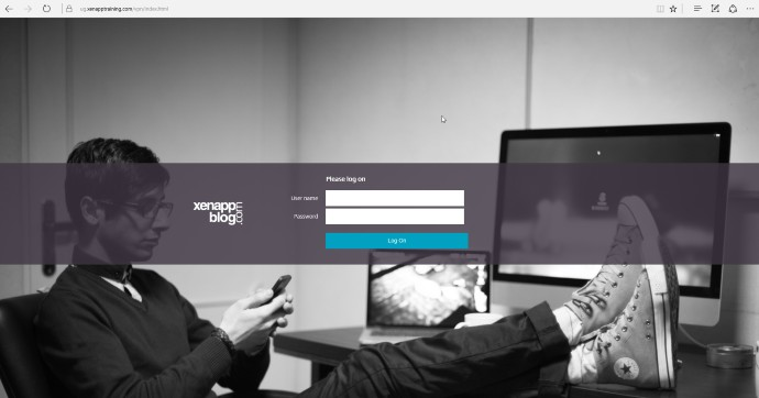 Netscaler Custom Welcome Page