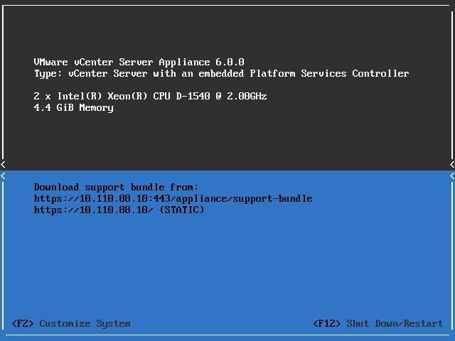 VMware vCenter Server Appliance Uograde to VCSA 6.0 Update 1b-01