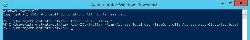 Add-XDController