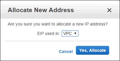 Allocated New Address