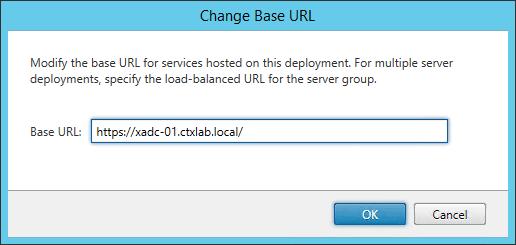 Change Base URL StoreFront