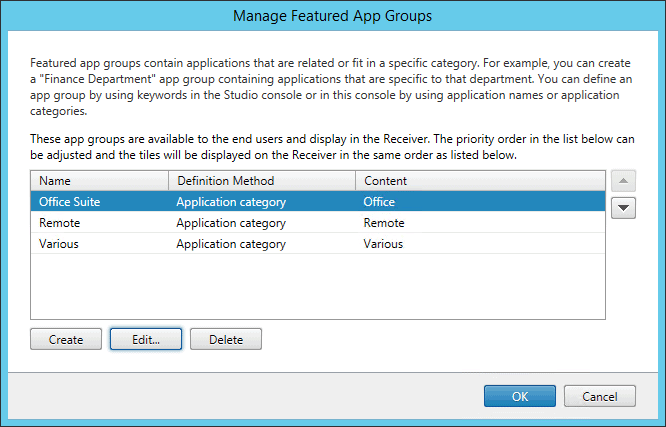 X1 StoreFront Featured app groups overview